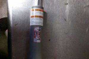 "Monotube rear main KYB PLUS shock 121,120"" aluminum"
